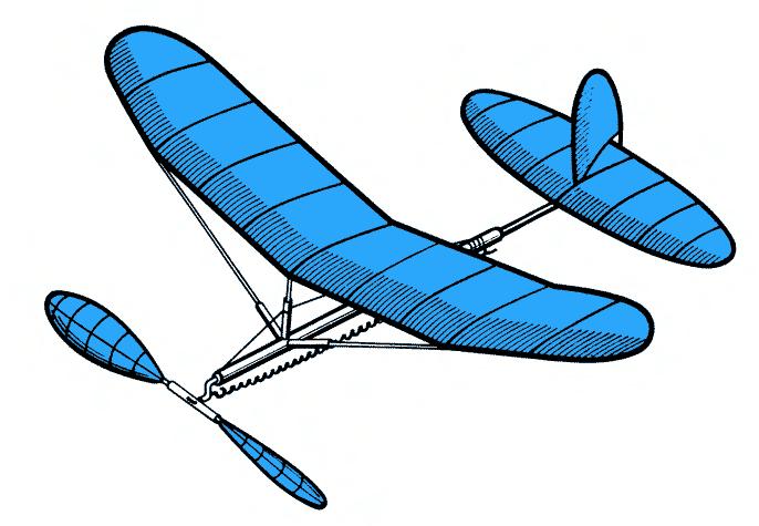 Как сделать летающий самолет на резиномоторе