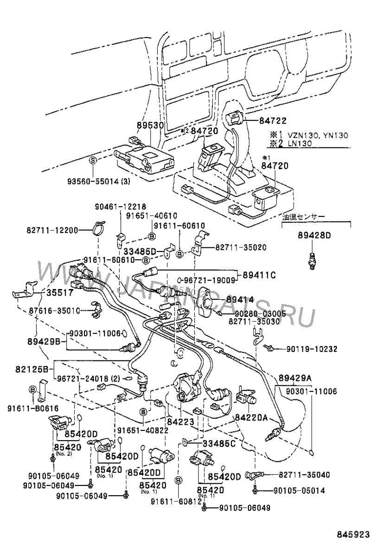 электрическая схема тойота хайлюкс surf 130