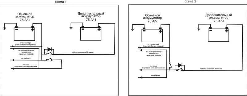 схема подключения второго