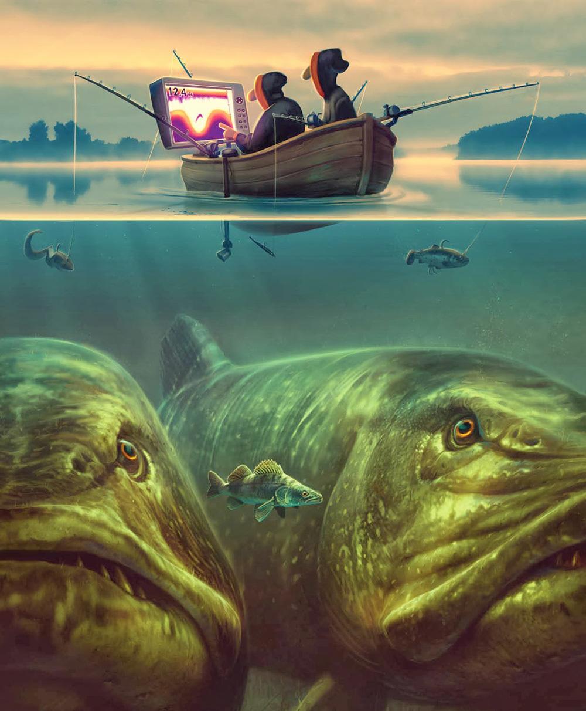 увидела крутые картинки на тему рыбалки этот раз решили