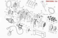 Лебедка автомобильная электрическая T-MAX EWI-12000 OUTBACK Integrated 12В.